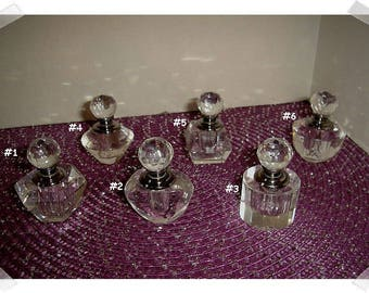 Glass Perfume Bottle w/Glass Dabber/ Assorted- Single OR Set of 3 OR Set of 5/ Home Decor/Supplies*