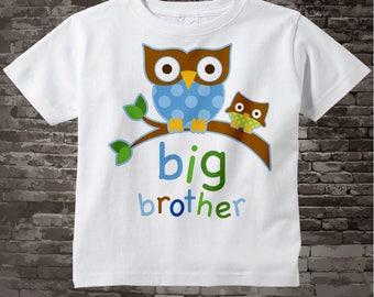 Owl Big Brother Shirt - Big Brother Gift - Big Brother Onesie - Big Brother t shirt - New Baby Gift  03082012a
