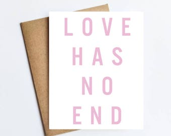 Love Has No End - NOTECARD