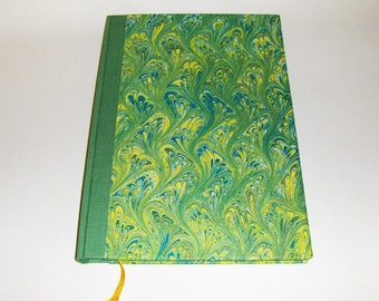 Marbled paper  guest  book. Hand bounded   cm 17 x 24 cm.  1007