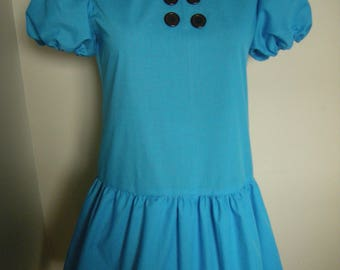 Adult size  dress  inspired by Lucy Van Pelt dress from You are a good  man Charlie Brown