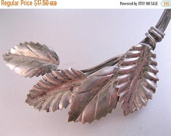SALE & FREE SHIPPING Vintage Hand Made Sterling Silver Leaf Brooch Pin Vintage Brooch Vintage Pin Vintage Jewelry