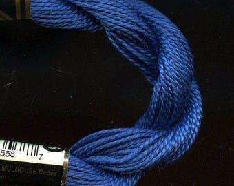 DMC Coton Perle 5 #824 Very Dark Blue 100% Mercerized Pearl Cotton Thread 27 yd skein for crochet, cross stitch, needlepoint