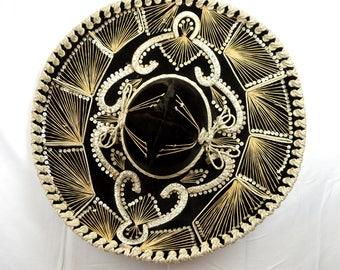 Vintage Mexican Sequin Sombrero Hat