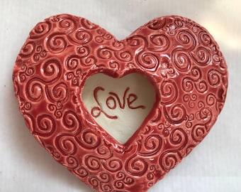 Valentine Red Ceramic Heart