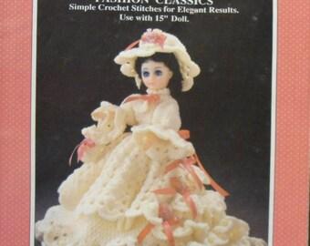 "Vintage Constance Dress for 15"" Doll Fibre Craft Crochet Pattern/Instructions Leaflet"