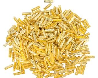 500pcs. 22mm or 7/8 inch Gold No Loop Ribbon Clamp End Crimps - Artisan Series