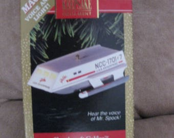 1992 Star Trek Mr. Spock Galileo Shuttlecraft Hallmark Ornament