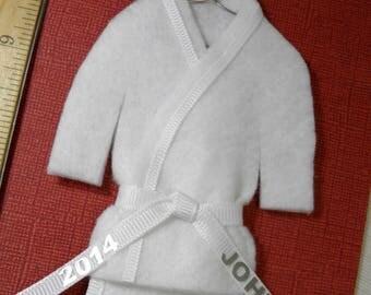 White Belt Martial Arts Christmas Ornament - pErSoNaLiZeD - TaeKwonDo Karate Martial Artist KungFu Tree Ornie