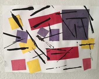 Tiny Mondrian Print - Hurricane Harvey Relief