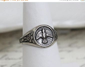 VACATION SALE- Silver Dove Ring
