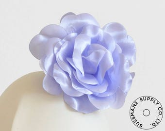 "Millinery Flower - Beth Super Sheen Neon Flower - Periwinkle Blue - 4.5"" (1pc)"