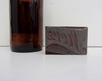 Vintage Storz Printer's Cut Wood Block Logo Printing Press Advertising and Collectible