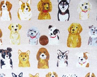 1 yard - Puppy friends, Kokka  Japanese import