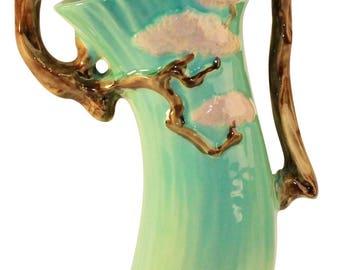Roseville Pottery Ming Tree Green Basket 510-14
