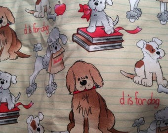 Pillowcase Set for Standard Size Bed Pillows Flannel Dogs At School