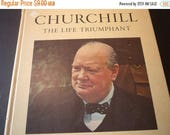 ON SALE Churchill The Life Triumphant - first edition 1963 good condition color and bw photos gift for history buffs English lovers anglophi