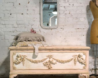 Painted Cottage Shabby Chic Romantic French Hope Chest CH908