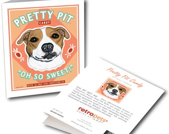 """Pit Bull Cards  """"Pretty Pit Candy"""" 6 Small Greeting Cards by Krista Brooks"""