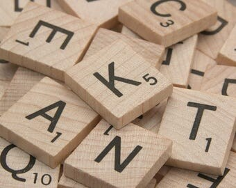 200 scrabble tiles for your altered art or craft projects
