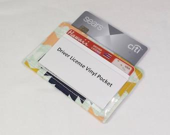 RFID Alum-Block Credit Card Sleeve, Credit Card Protection, Minimalist Wallet, Vinyl ID Pocket, Nickel Free, RFID Shielding Aluminum Lining