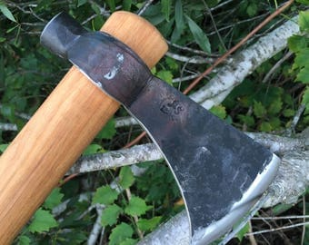 Hand forged tomahawk with hammer poll, camp axe, throwing tomahawk