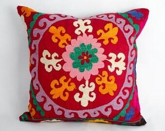 Oriental cushion cover, home pillow, bohemian interior, suzani pillow, suzani cushion