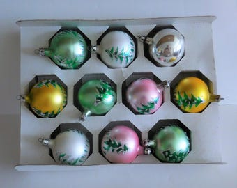 Vintage Polish Mercury Glass Christmas Ornaments - 10