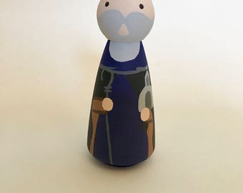 St. Kieran Saighir - Wooden Peg Doll