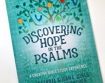 PRE-ORDER Discovering Hope in the Psalms - A Creative Bible Study Experience with Illustrated Coloring Pages and Christian Bookmarks