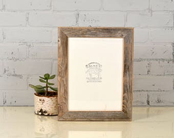 8.5x11 Picture Frame in Rustic Natural Reclaimed Cedar - IN STOCK - Same Day Shipping - 8.5 x 11 Upcycled Wood Photo Frame Reclaimed