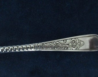 1887 Ornate Silver Plate  Spoon Wm Rogers and Son Silverplate