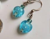 PIF coeur bleu boucles d'oreilles - Pay It Forward, boucles d'oreilles en forme de coeur