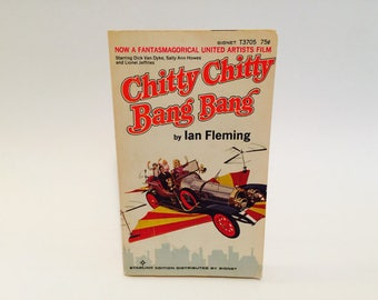 Vintage Pop Culture Book Chitty Chitty Bang Bang by Ian Fleming 1964 Movie Tie-In Edition Paperback