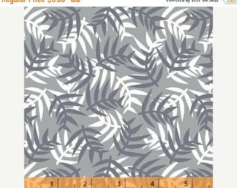 CHRISTMASINJULY SALE Jungle Babies Fabric Leaves Gray Fabric by Jackie Shapiro Windham 40866 3