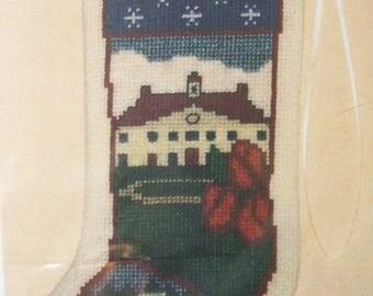 Mount Vernon George Washington Home Stocking Ornament Posy Counted Cross Stitch Kit