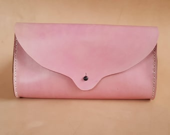 Hand Stitched Leather Clutch in Quebracho