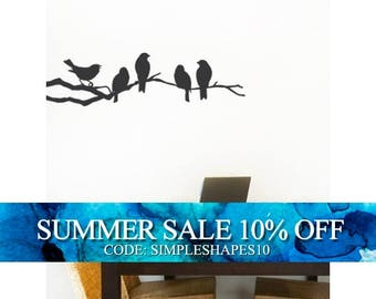 Birds on a Branch Decal - Vinyl Wall Sticker