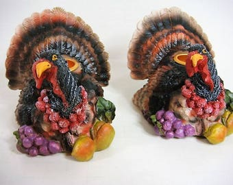2 Thanksgiving Turkey Candle Holders Thanksgiving Dining Thanksgiving Decor Supplies for Centerpieces - Wreath - Swag
