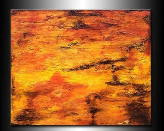Modern Large Textured Abstract Painting Contemporary Canvas Art by Henry Parsinia Large 58x48