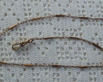 """Vintage Pocket Watch Chain Engraved Links 15"""""""