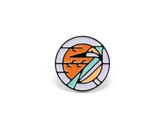 "Kingfisher Soft Enamel Pin - 3/4"" Limited Edition of 100"