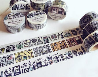 New - Eric Little Things Japanese Washi Masking Tapes for your journaling, packaging, scrapbooking
