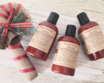 Gingerbread Vanilla Body Lotion - Coconut Milk & Aloe Body Lotion with Cocoa Butter, Holiday Lotion, Christmas Lotion, Stocking Stuffer