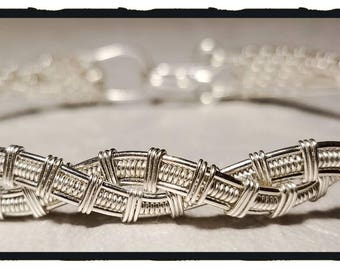 Sterling Silver Woven Twist Bracelet