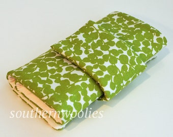 NEW! - Knitting Needle Case for Interchangeable CABLES - Spring Green