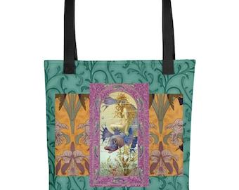 Rare Art Nouveau Sprite/remastered graphic composition/ Tote/Travel bag/ Purse