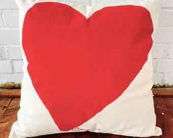 SALE 20 OFF! Red Heart 20in Pillow