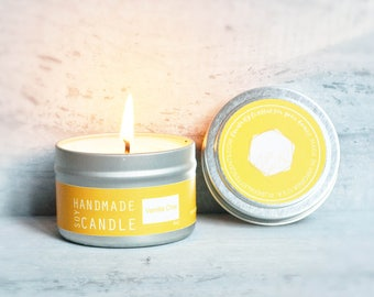 Vanilla Chai Soy Candle 4 Oz. Silver Travel Tin
