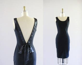 ON SALE backless jersey wiggle dress